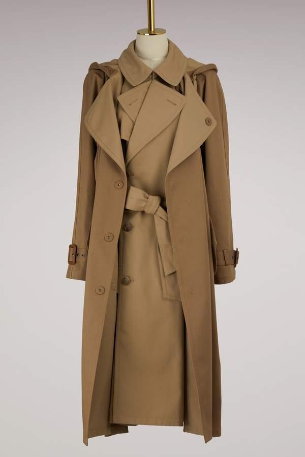 Maison Margiela Double Cotton Trench Coat