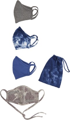 Nordstrom Assorted Tie Dye 4-Pack Adult Face Masks