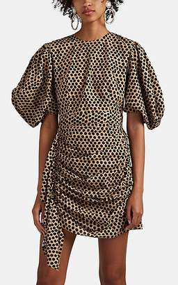 Rhode Resort Women's Pia Polka Dot Cotton Minidress - Beige, Tan