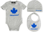 DSQUARED2 maple leaf print body set - kids - Cotton/Spandex/Elastane - 6 mth