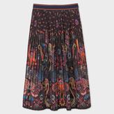 Paul Smith Women's 'Monkey' Print Pleated Skirt