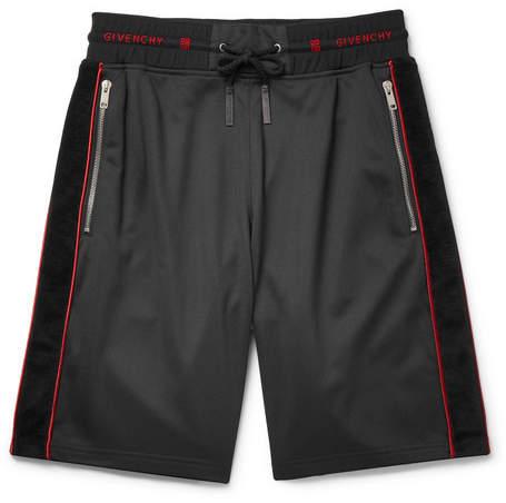 Givenchy Logo-Trimmed Fleece-Back Jersey Drawstring Shorts