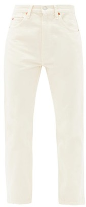 RE/DONE 70s Cropped Straight-leg Jeans - Ivory