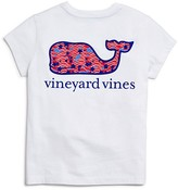 Vineyard Vines Girls' Stars & Whales Pocket Tee - Big Kid