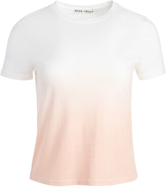Alice + Olivia Cindy Ombre Classic Cropped Tee
