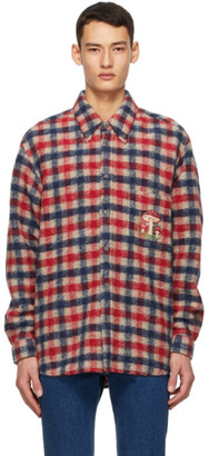 Gucci Multicolor Check Mushrooms Shirt