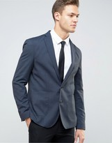 Selected Skinny Blazer In Fleck