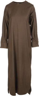 Max Mara Brown Long Wool Dress