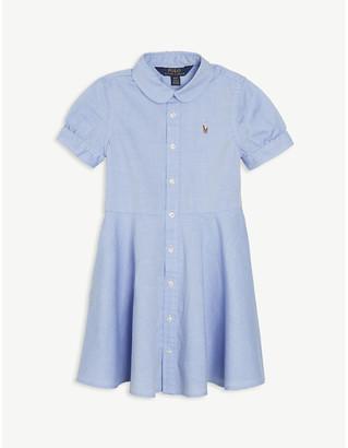 Ralph Lauren Logo poplin cotton dress 2-14 years