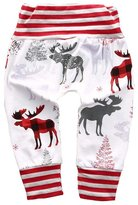 Aliven Mother Daughter Newborn Baby Boy Girl Striped Deer Bottom Pants Leggings Trouser (M, )