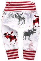 Aliven Mother Daughter Newborn Baby Boy Girl Striped Deer Bottom Pants Leggings Trouser