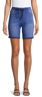 No Boundaries Juniors' Pull-On Bermuda Shorts