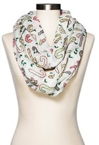 David & Young Women's Candy Cane Scarf - White