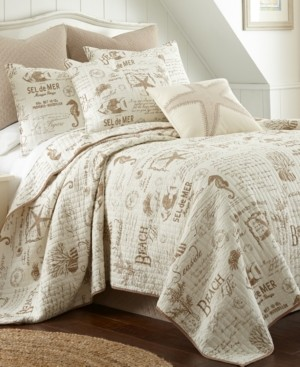 Levtex Home Beach Life Taupe Twin Quilt Set