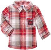 Petit Bateau Check Shirt (Baby) - Red/Blue/Grey-3 Months
