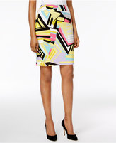 Nine West Printed Pencil Skirt