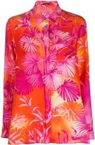 Versace botanical-print shirt