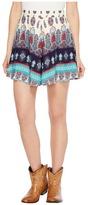 Roper 1127 Border Printed Rayon Shorts Women's Shorts