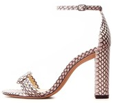 Alexandre Birman Chiara Block Exotic Heel in Natural