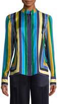 Diane von Furstenberg Women's Striped Silk Shirt