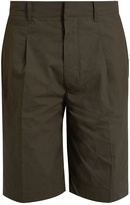 Lemaire Mid-rise cotton-poplin shorts