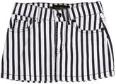 Finger In The Nose Striped Stretch Cotton Denim Skirt