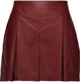 Proenza Schouler Pleated leather shorts