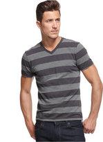 Alfani Men's Striped Slim-Fit V-Neck T-Shirt, Only at Macy's