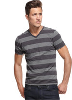 Alfani Men's Wide Striped V-Neck T-Shirt, Only at Macy's