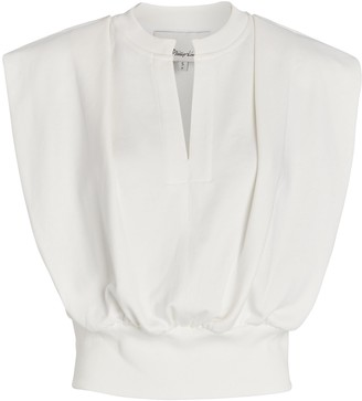 3.1 Phillip Lim Padded Shoulder French Terry Top
