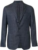 Caruso checked print button up jacket