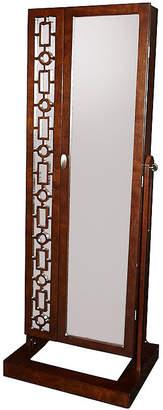 Asstd National Brand Amelia Cherry Cheval Mirror Jewelry Armoire