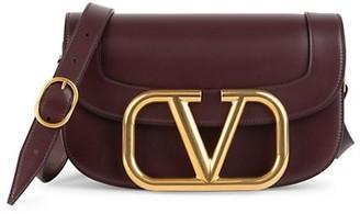 Valentino Supervee Leather Saddle Bag