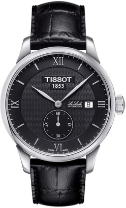 Tissot Men's Le Locle Croc Embossed Leather Strap Watch, 39mm