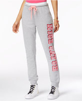 Material Girl Active Juniors' Glitter-Trim Graphic Sweatpants, Only at Macy's