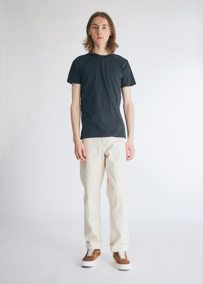 Need Men's Short Sleeve Dye T-Shirt in Washed Black, Size Extra Small | 100% Cotton