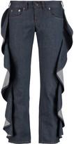 MM6 MAISON MARGIELA Ruffled low-rise slim-leg jeans