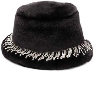 Shrimps Carson embellished faux-fur hat