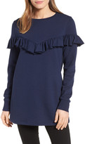 Halogen Ruffled Tunic Sweatshirt (Regular & Petite)