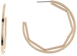 Vince Camuto 40mm Geo Inset Hoop Earrings