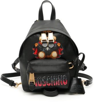 Moschino BAT TEDDY BEAR MINI BACKPACK OS Black Faux leather