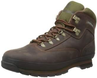 Timberland Men's Euro Leather Hiker Chukka Boots, Brown (Md Brown Full Grain), 46 EU