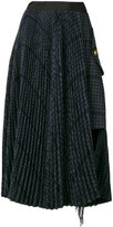 Sacai asymmetric houndstooth skirt