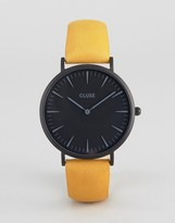 Cluse La Boheme Full Black Mustard Leather Watch
