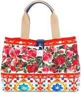 Dolce & Gabbana Dolce shopping tote - women - Leather/Canvas - One Size