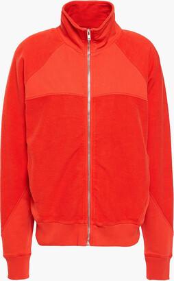 IRO Jersey-paneled French Cotton-terry Track Jacket
