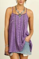 Umgee USA Sleeveless Violet Tunic