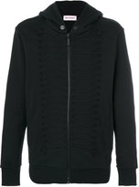 Palm Angels hooded jacket with detail - men - Cotton/Acrylic/Viscose/metal - S