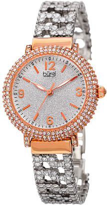 Burgi Women's Alloy And Crystals Watch