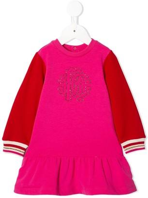 Roberto Cavalli Junior Embellished Logo Sweat Dress